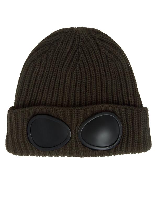 шапка из шерсти с фирменными декоративными линзами артикул 03CMAC181A марки C.P.Company купить за 4000 руб.