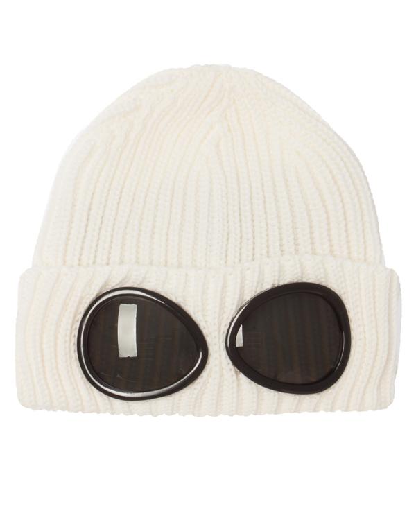 шапка из вязаной шерсти с фирменными линзами  артикул 05CMAC158A марки C.P.Company купить за 5300 руб.