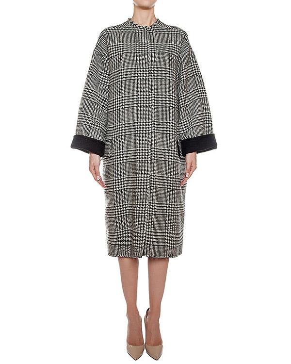 пальто двустороннее из шерсти и кашемира, сзади дополнено поясом с отделкой из меха рекса артикул 08AAFW16 марки Ava Adore купить за 56100 руб.
