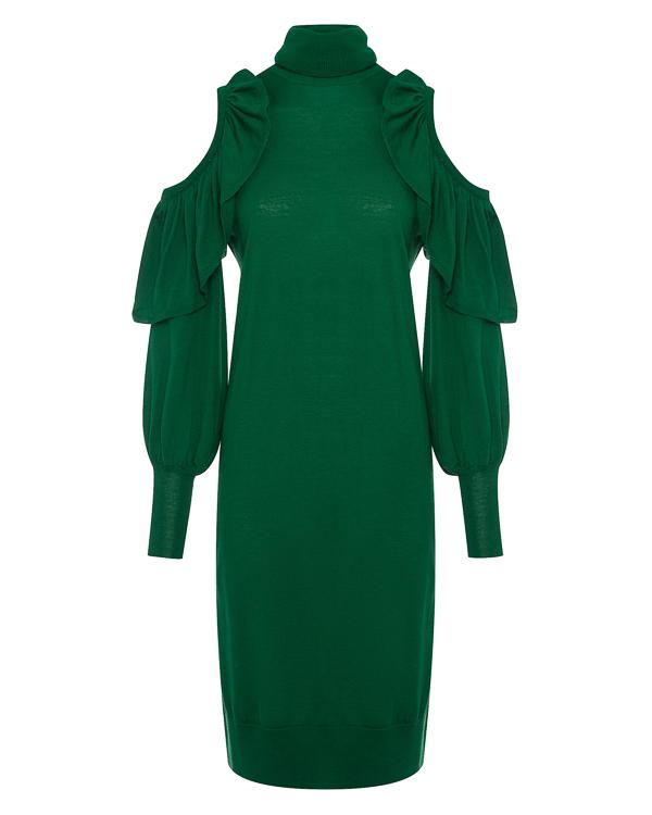 платье из трикотажной шерсти с отделкой оборками артикул 1101018 марки Nude купить за 14700 руб.