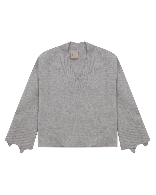 пуловер  из трикотажной шерсти с оборками  артикул 1101049 марки Nude купить за 10200 руб.