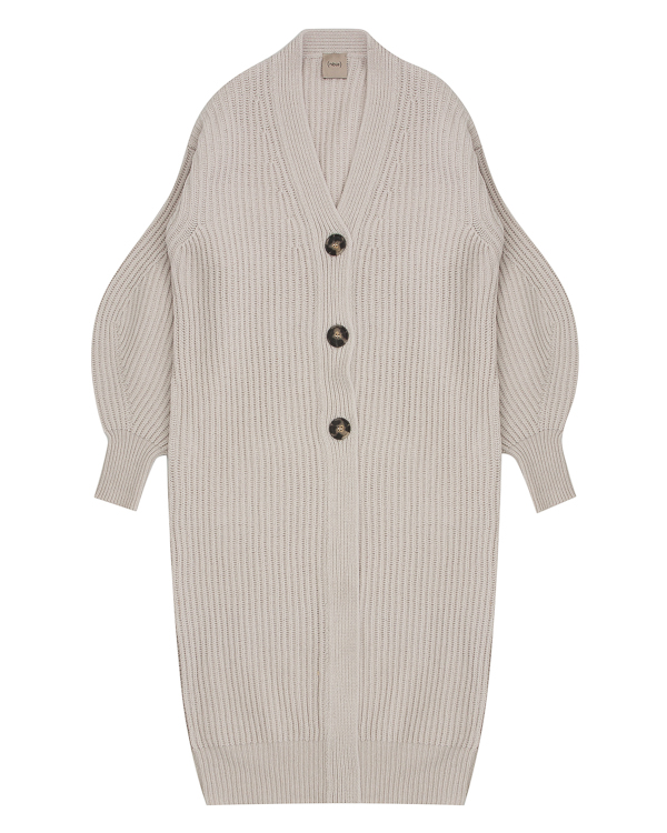 пальто из вязаной шерсти с объемными рукавами  артикул 1101051 марки Nude купить за 13900 руб.