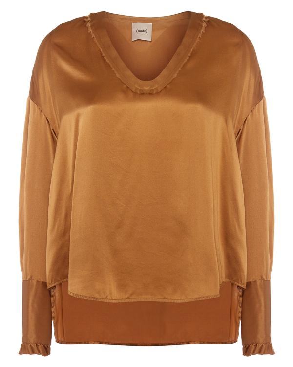 блуза из шелка со спущенной линией плеч артикул 1103012 марки Nude купить за 15500 руб.