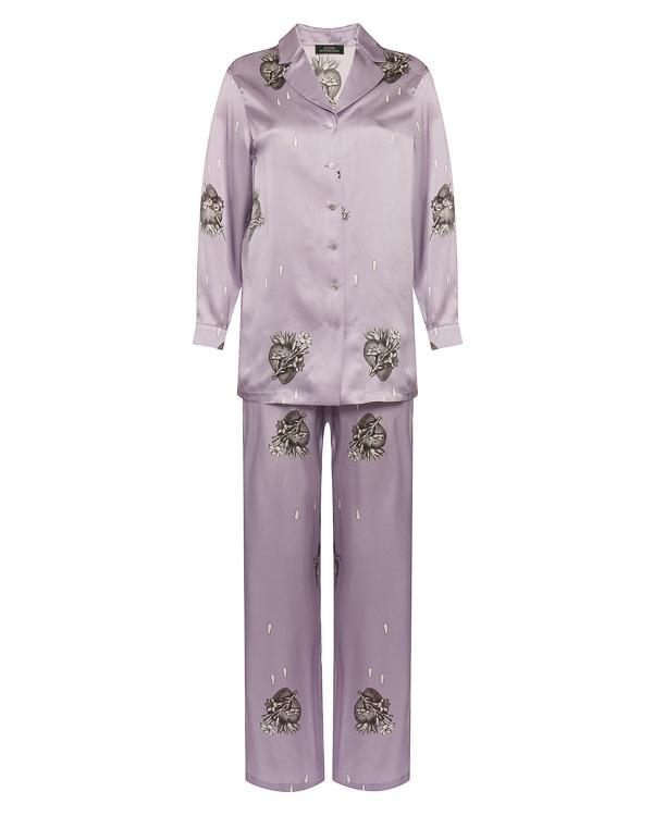 Alena Akhmadullina в пижамном стиле из атласного шелка  артикул  марки Alena Akhmadullina купить за 10000 руб.
