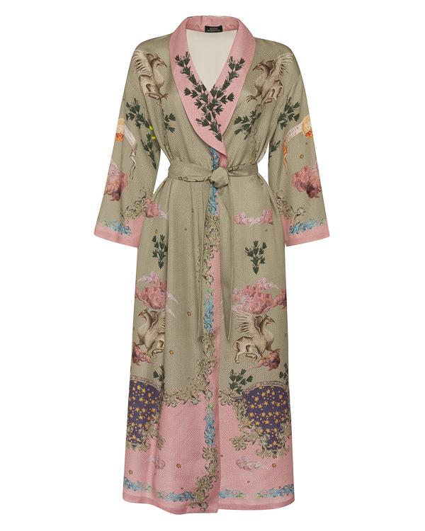 Alena Akhmadullina халат из фактурного шелка с принтом артикул  марки Alena Akhmadullina купить за 104900 руб.