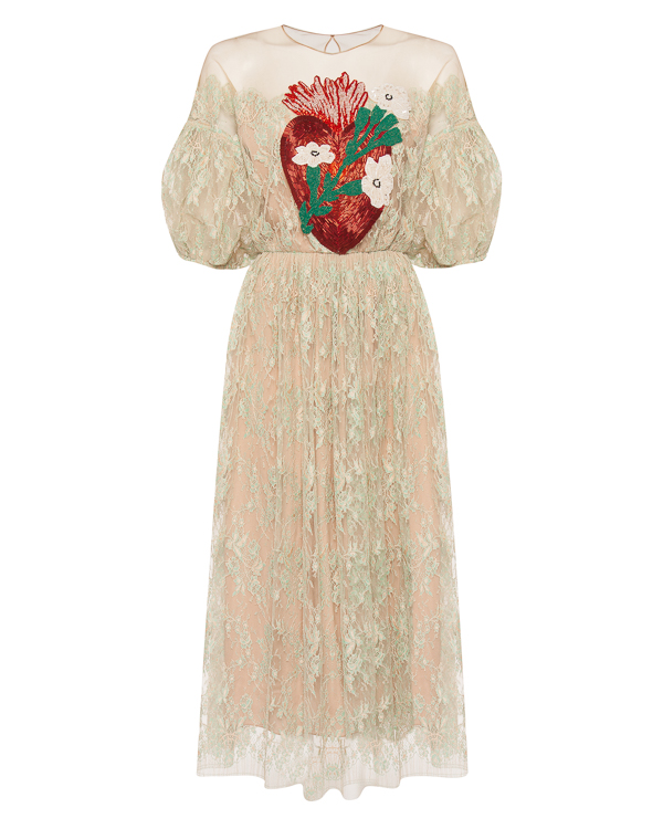 Alena Akhmadullina из ажурного кружева с вышивкой бисером артикул  марки Alena Akhmadullina купить за 289900 руб.