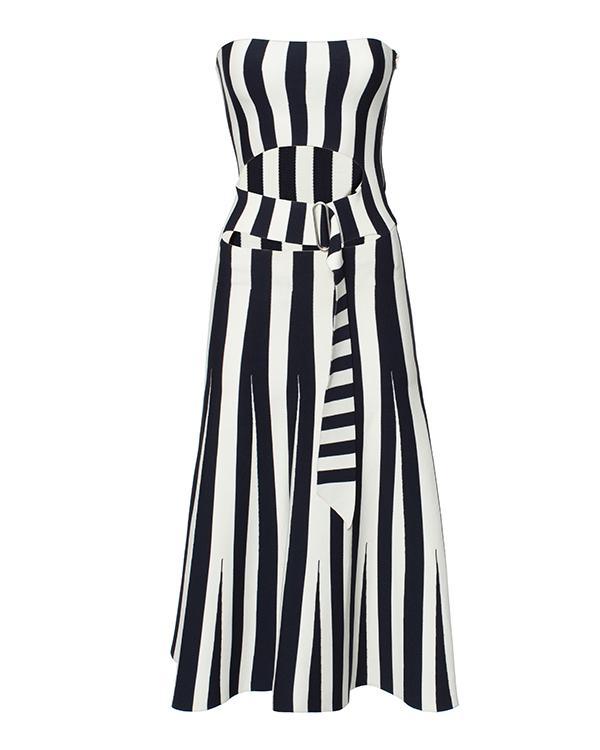 платье из плотной эластичной ткани в полоску артикул 116111S16 марки Alexander Wang купить за 28100 руб.