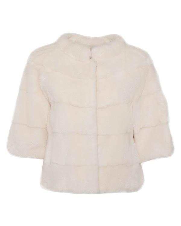 мех.куртка укороченного кроя с рукавами длиной три четверти артикул 13M707 марки Manzoni купить за 120800 руб.