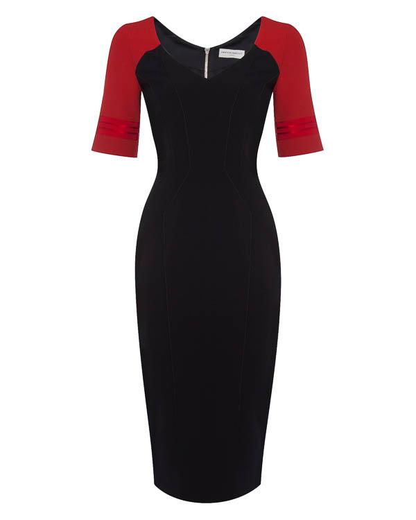 платье футляр из вискозы артикул 1610620 марки Amanda Wakeley купить за 35900 руб.