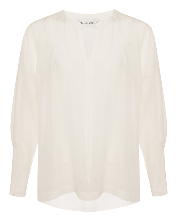 блуза из шелка прямого силуэта  артикул 1650401 марки Amanda Wakeley купить за 32200 руб.