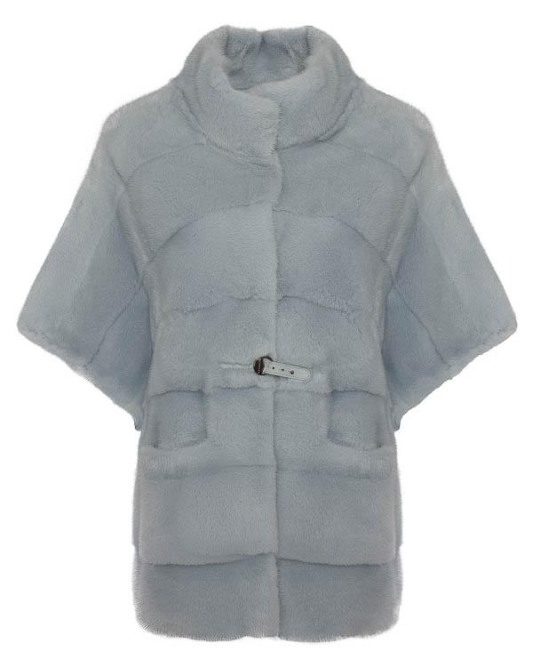 мех.пальто с цельнокроеными рукавами артикул 16M924SKY марки Manzoni купить за 243600 руб.