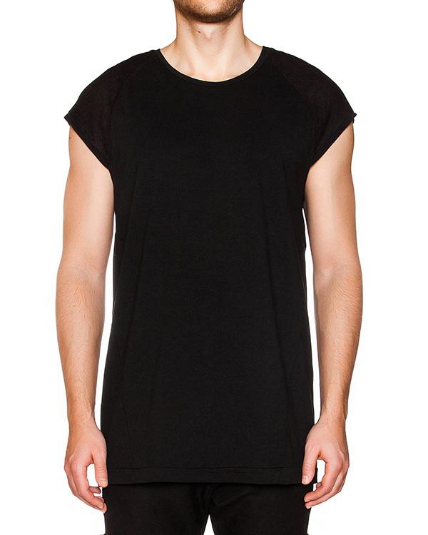 футболка из мягкого хлопка, на спине дополнена вставкой из тонкого льна артикул 16MOPR044 марки Andrea Ya'aqov купить за 7100 руб.