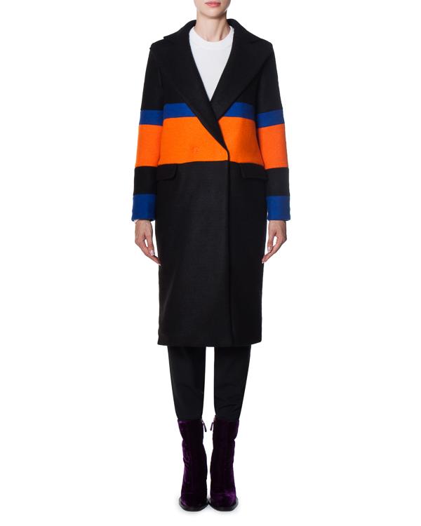 пальто из плотного шерстяного материала  артикул 17FR01 марки Front Street 8 купить за 14500 руб.