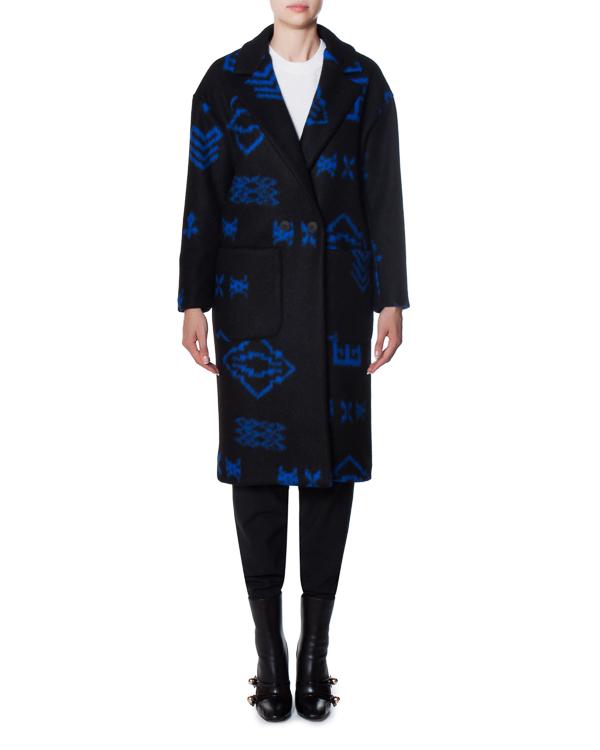 пальто из полушерстяного материала с узором артикул 17FR07 марки Front Street 8 купить за 13900 руб.