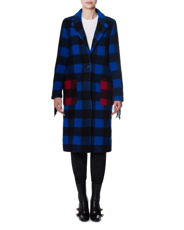 пальто AUGH из шерстяного микса с бахромой и аппликацией артикул 17FR105 марки Front Street 8 купить за 14500 руб.
