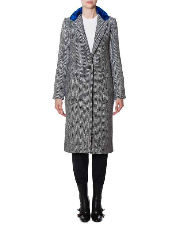 пальто из полушерстяного материала с аппликацией артикул 17FR10 марки Front Street 8 купить за 13900 руб.