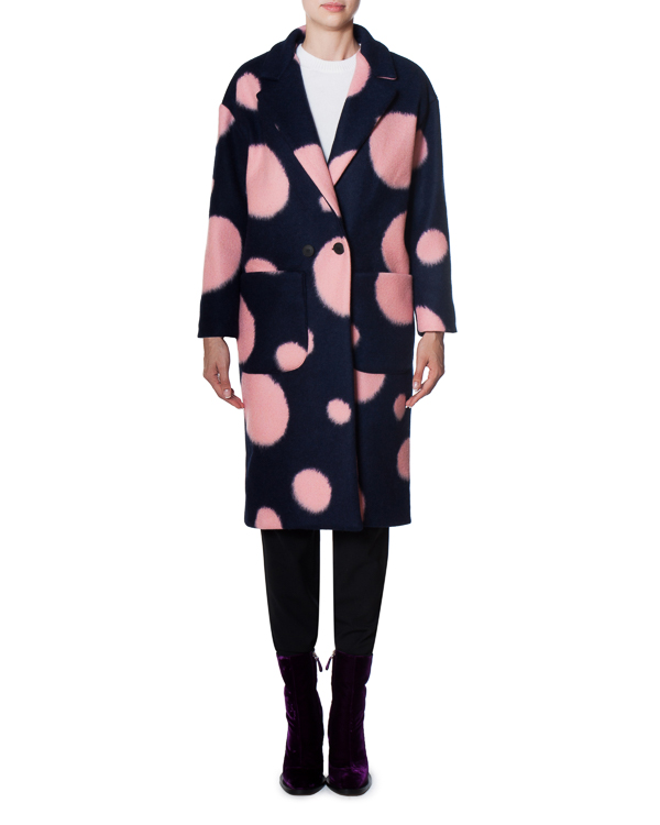 пальто из шерстяного микса с яркими акцентами артикул 17FR12 марки Front Street 8 купить за 13900 руб.