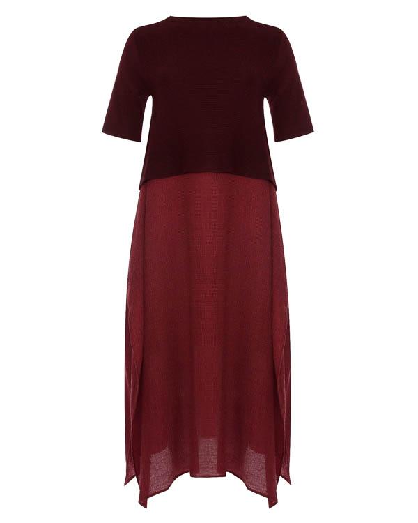 платье миди из комбинированного трикотажа   артикул 17W061 марки Colour 5 Power купить за 9500 руб.