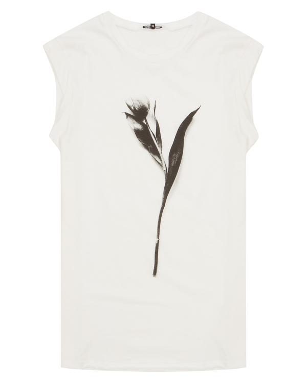 футболка из хлопка с принтом  артикул 18012521 марки Ann Demeulemeester купить за 15800 руб.