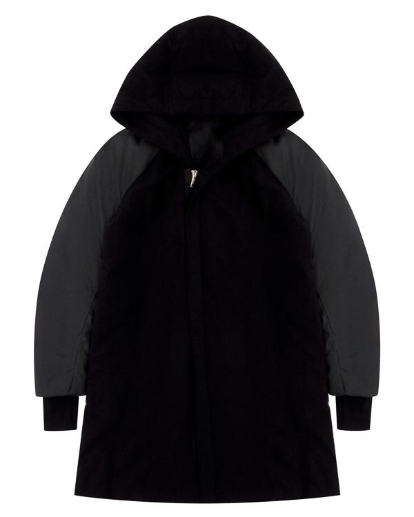 пальто из плотной шерсти с капюшоном артикул 18MBOB18 марки Andrea Ya'aqov купить за 45200 руб.