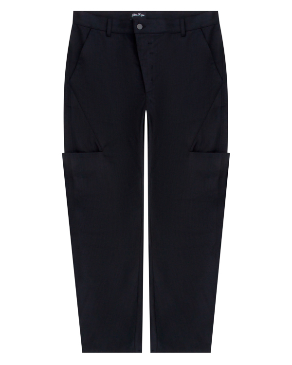 брюки из плотного хлопка с нестандартными карманами артикул 18MPON27 марки Andrea Ya'aqov купить за 13900 руб.