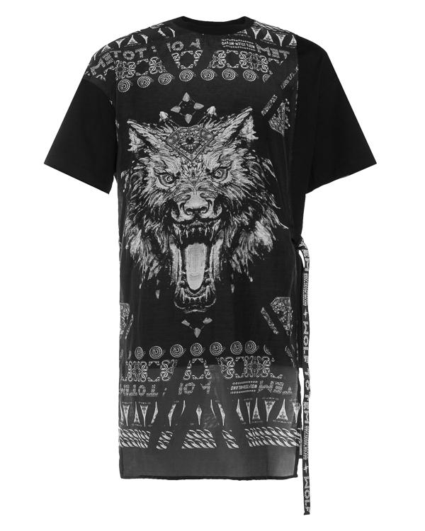 Wolf Totem удлиненного силуэта с орнаментом  артикул 18SSTS13 марки Wolf Totem купить за 12600 руб.
