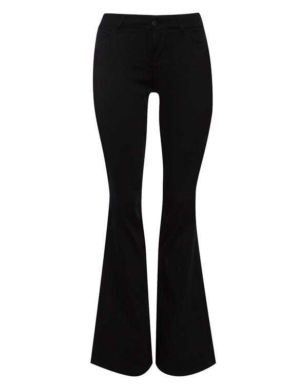 джинсы Flared из плотного денима артикул 18WNAG35 марки Andrea Ya'aqov купить за 13900 руб.