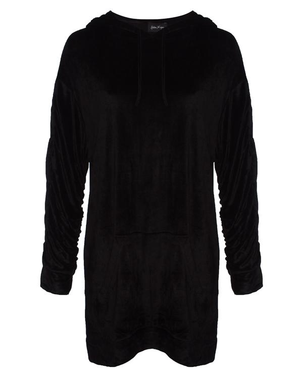 платье мини из бархата с капюшоном артикул 18WSYD41 марки Andrea Ya'aqov купить за 13900 руб.