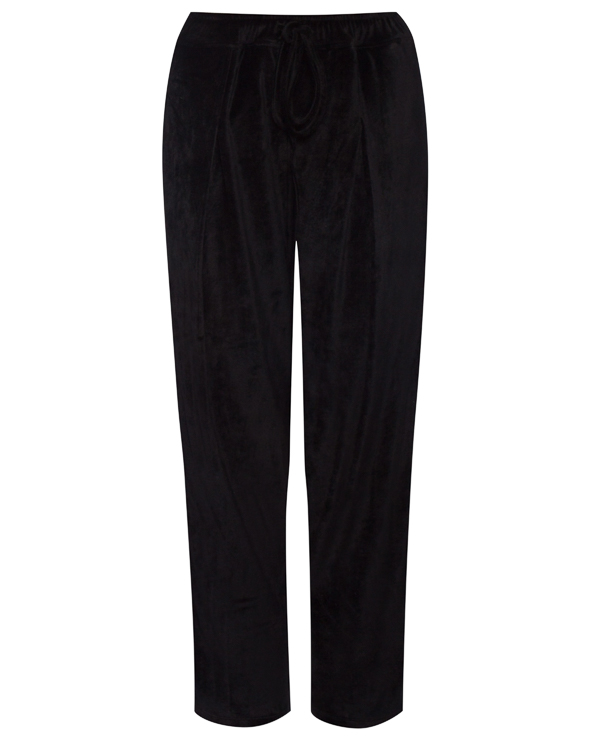 брюки свободного силуэта из бархата артикул 18WSYD49 марки Andrea Ya'aqov купить за 12600 руб.