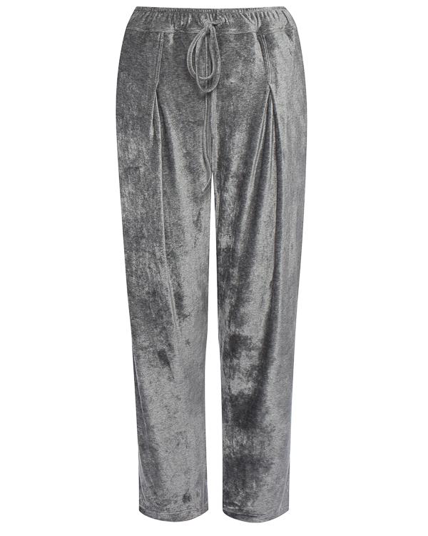 брюки свободного силуэта из бархата артикул 18WSYD49 марки Andrea Ya'aqov купить за 9000 руб.