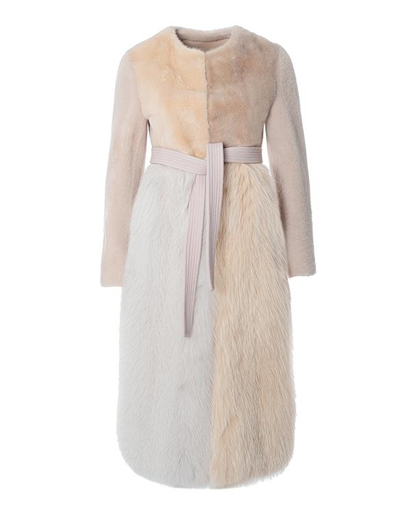 BLANCHA в стиле color block из овчины и комбинированного меха артикул  марки BLANCHA купить за 331700 руб.