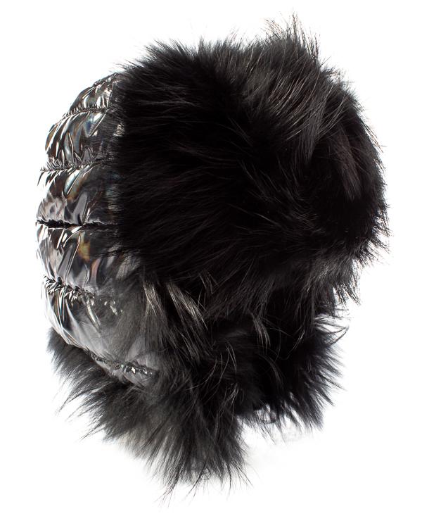 ODRI ушанка из стеганого нейлона с отделкой мехом артикул  марки ODRI купить за 14400 руб.