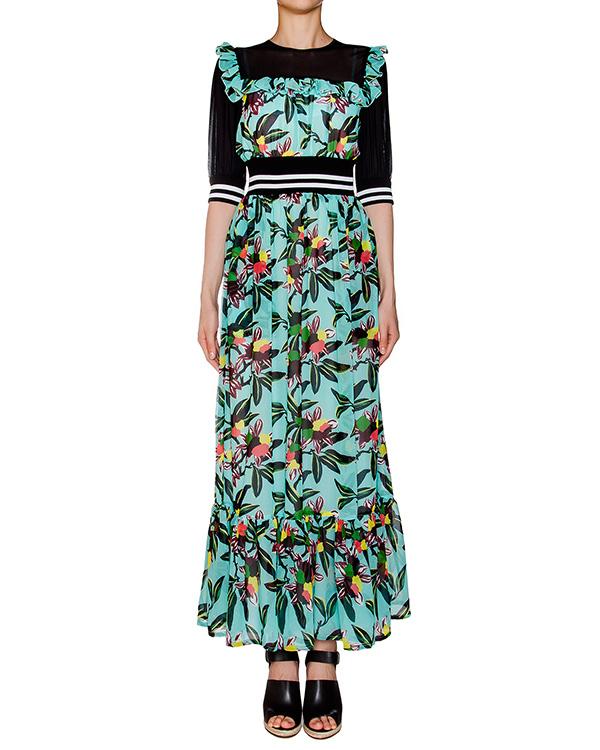 платье из легкой ткани, дополнено полупрозрачной вставкой и эластичным поясом артикул 1H9353 марки Antonio Marras купить за 29200 руб.