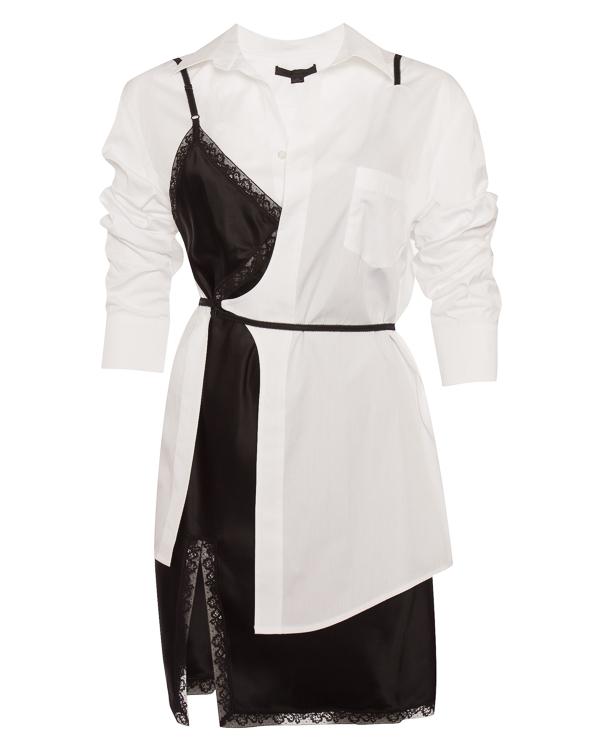 платье из хлопка и атласа артикул 1W186013J8 марки Alexander Wang купить за 70700 руб.