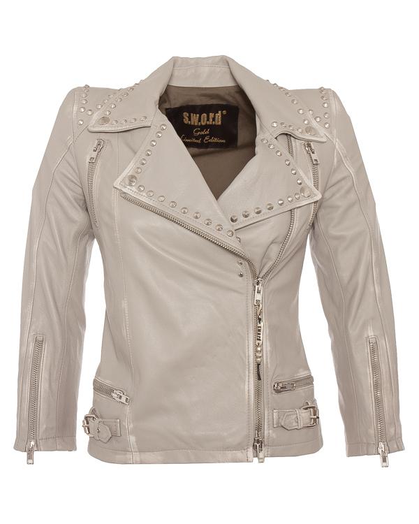 куртка косуха укороченного силуэта из мягкой кожи  артикул 2022BC марки S.W.O.R.D. купить за 59800 руб.
