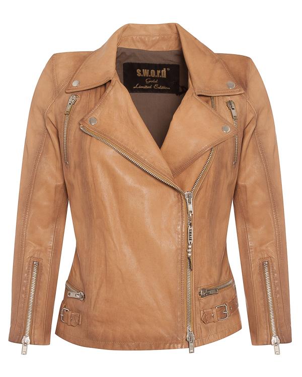 куртка косуха из мягкой кожи  артикул 2022REAL марки S.W.O.R.D. купить за 32100 руб.