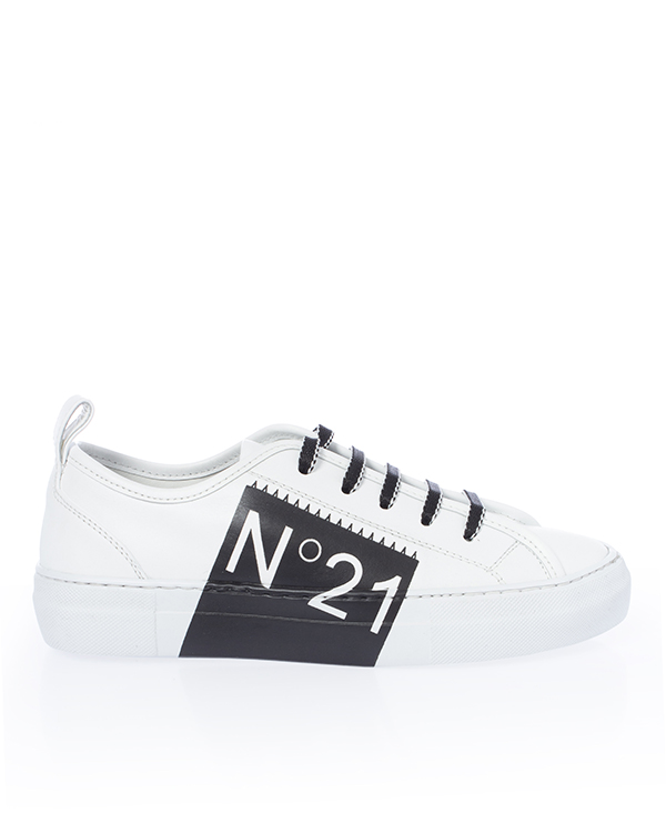№ 21 из кожи с логотипом бренда артикул  марки № 21 купить за 55800 руб.