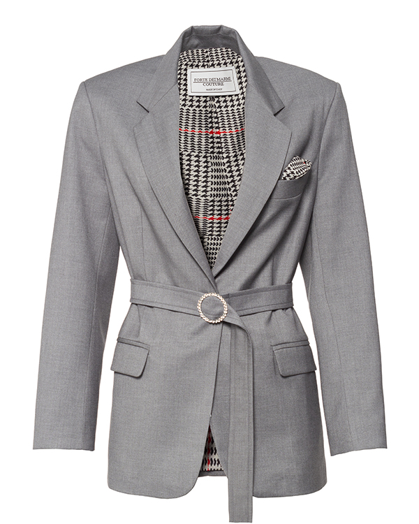 Forte Dei Marmi Couture с поясом из костюмного материала  артикул  марки Forte Dei Marmi Couture купить за 69700 руб.