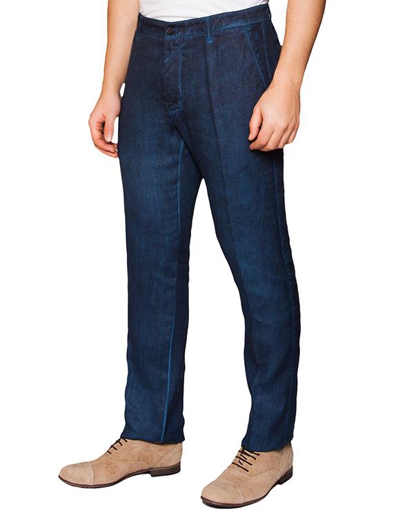 брюки классического прямого кроя из льна артикул 2130D943 марки 120% lino купить за 5300 руб.