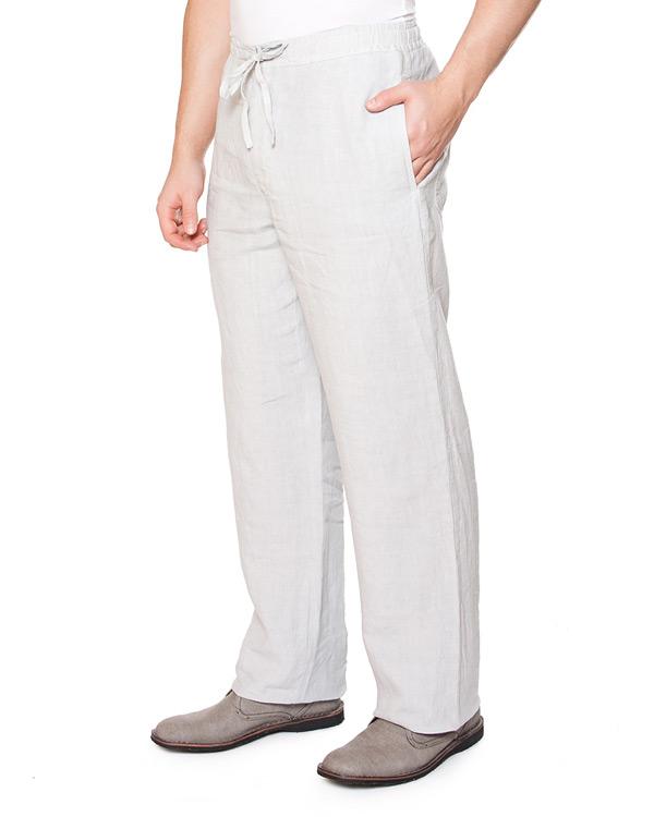 брюки прямого широкого силуэта с высокой посадкой, из тонкого комфортного льна артикул 21430253 марки 120% lino купить за 3900 руб.