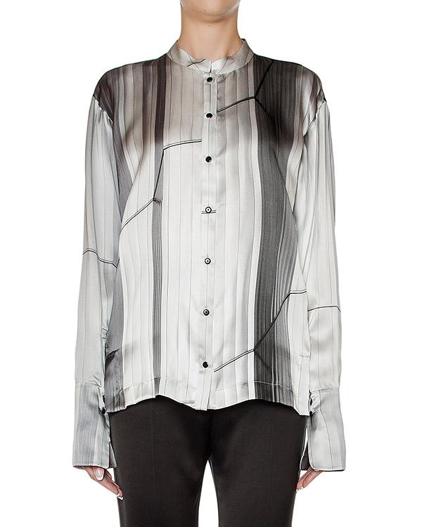 блуза из гладкого шелка с абстрактным принтом артикул 23CY180-19 марки ILARIA NISTRI купить за 26000 руб.