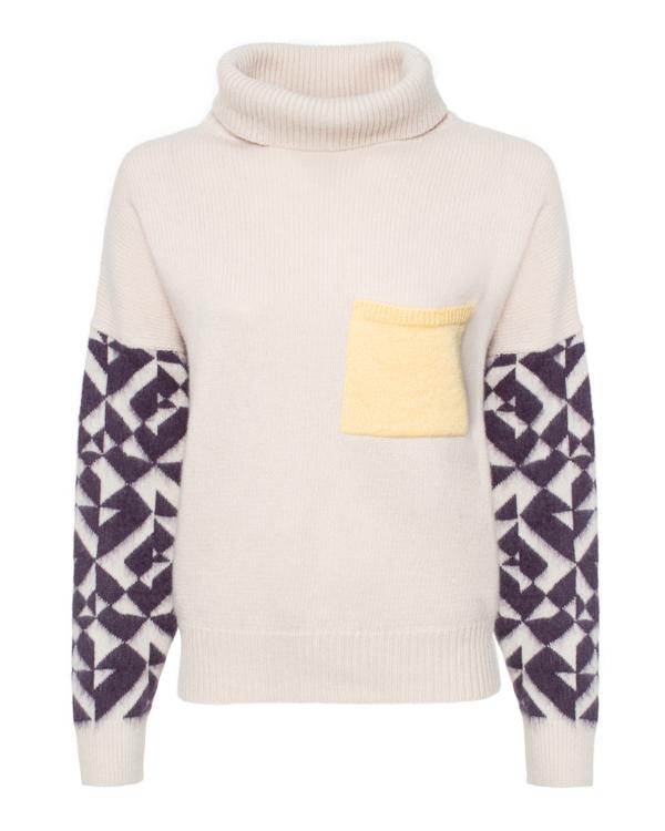 свитер ALYSI 250443 xs бежевый+желтый