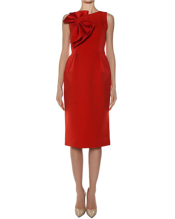 платье из плотной ткани с бантом артикул 2523 марки Dice Kayek купить за 27200 руб.
