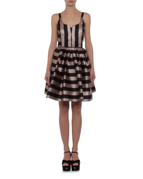 платье с пышной юбкой из плотной ткани в полоску артикул 2524 марки Dice Kayek купить за 10100 руб.