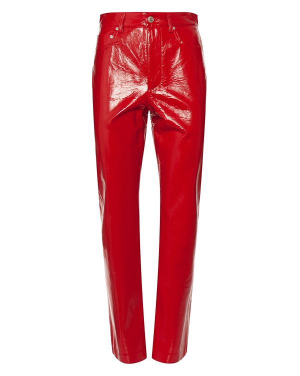 брюки из хлопка с виниловым покрытием  артикул 2542MDP114 марки MSGM купить за 23000 руб.