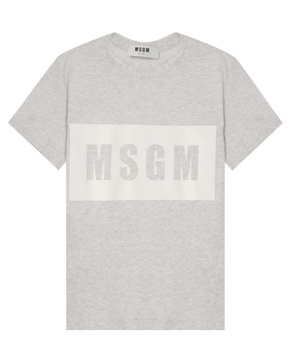 футболка из хлопка с логотипом бренда  артикул 2641MDM95 марки MSGM купить за 7700 руб.