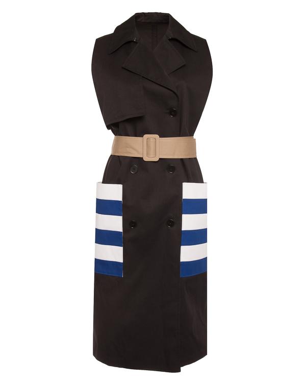 пальто тренч с яркими акцентами артикул 2641MDW01Y марки MSGM купить за 44600 руб.