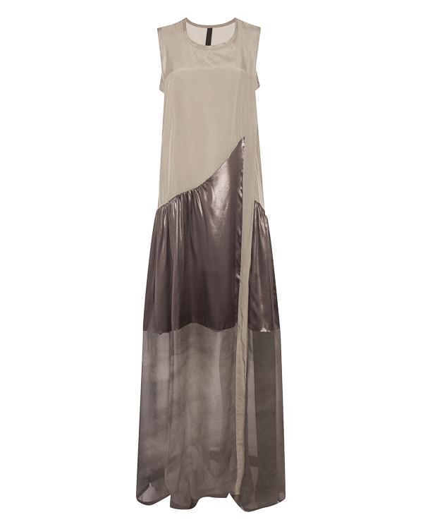 платье макси из купро с шелковой отделкой  артикул 26AY561/24 марки ILARIA NISTRI купить за 39600 руб.