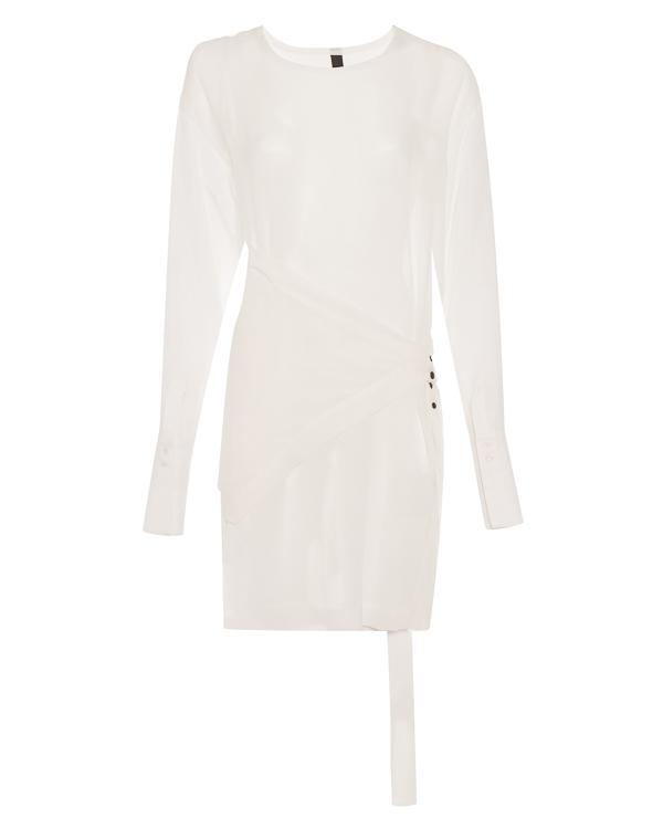 блуза из полупрозрачного шелка с отделкой артикул 26CY557/23 марки ILARIA NISTRI купить за 16700 руб.