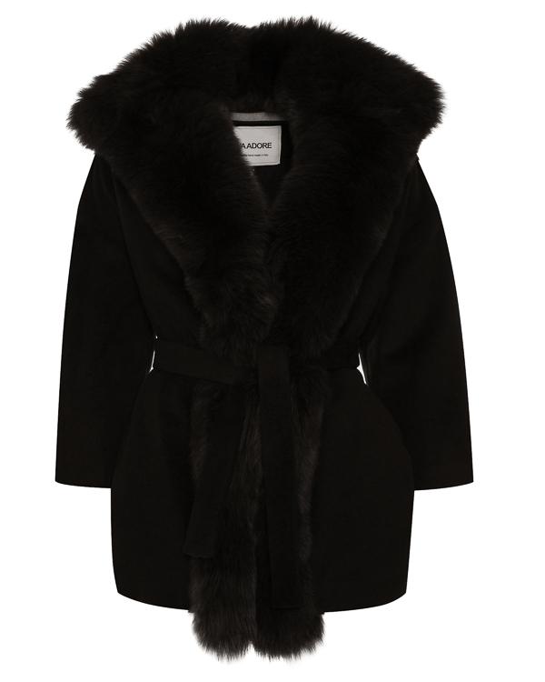 пальто полушерстяное с отделкой мехом артикул 30AAFW17 марки Ava Adore купить за 70100 руб.